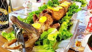 💥187-nướng cá sấu ăn đoàn tụ gia đình