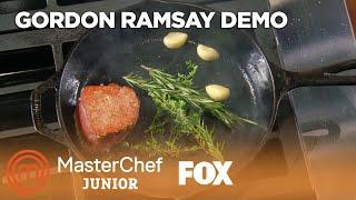 Gordon Ramsay Demonstrates How To Cook Filet Mignon | Season 6 Ep. 1 | MASTERCHEF JUNIOR