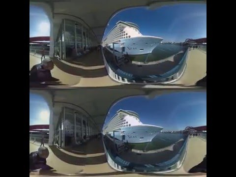 3D 360 Quantum of The Seas, 2nd largest cruiser at Kobe Port