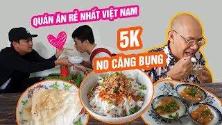 TRƯỜNG GIANG và CRIS PHAN và Color Man truy tìm món ăn rẻ nhất Việt Nam 5k NO CĂNG