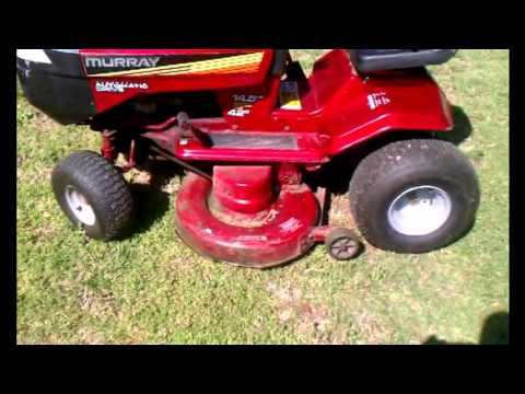 my wonderful 12hp murray tractor part 2 my station how to change blades on a 94 murray hydrostatic riding mower