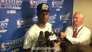 Patrick McCaw, postgame 2017 Western Conference championship, Warriors (4-0) vs Spurs Game 4