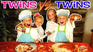 TWINS VS TWINS NOT MY ARMS CHALLENGE MAKING PIZZA! With Ninja Kidz TV