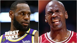 How big of a threat does LeBron pose to MJ's GOAT status?   First Take
