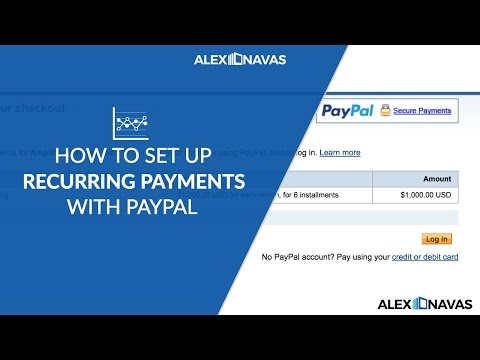 How To Setup Recurring Payments In Paypal