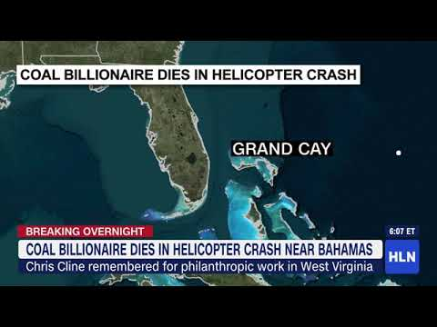 Billionaire Chris Cline dies in a helicopter crash near the Bahamas, governor says