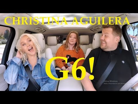 Christina Aguilera High Notes At Carpool Karaoke (G6!)
