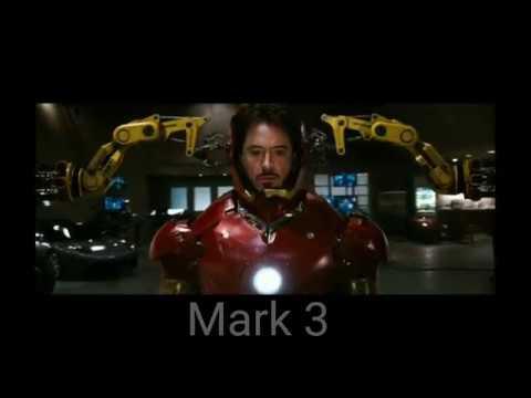 鋼鐵人所有換裝片段(Mark1-Mark50)
