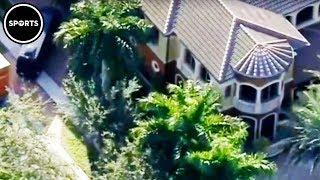 Cops Swarm Antonio Brown's House