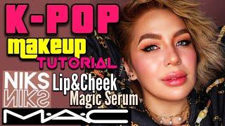 K-POP Style Makeup Tutorial using NIKS SKIN Lip and Cheek Magic Serum and MAC Cosmetics