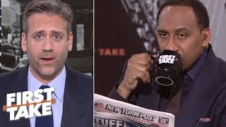 Max still struggling to sell Tom Brady 'cliff' theory to Stephen A. | First Take