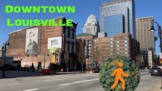 Downtown Louisville, Kentucky Virtual Walk - 4K