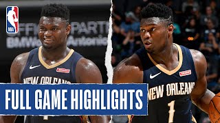 PELICANS at SPURS | Zion Scores 22 PTS on 11 SHOTS | NBA Preseason 2019
