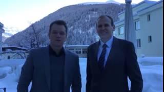 Matt Damon and Gary White address One Young World at WEF
