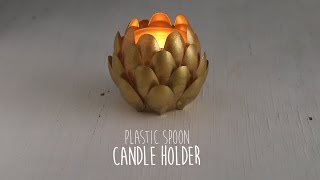 DIY: Spoon Candle Holder