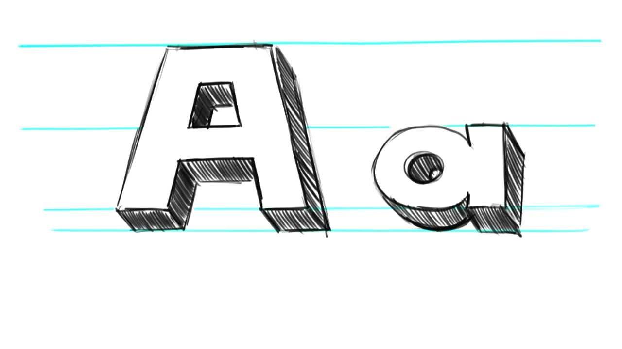 Block Letters Alphabet Lower Case