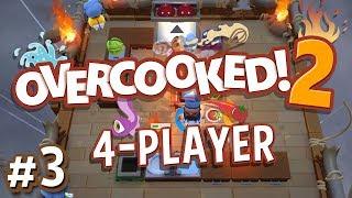 Overcooked 2 - #3 - AIRBORNE PASTA! (4 Player Gameplay)