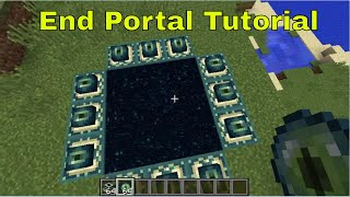 minecraft how to make an end portal in creative