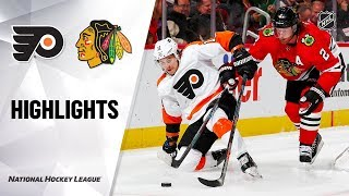 NHL Highlights | Flyers @ Blackhawks 10/24/19