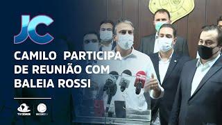 Camilo Santana participa de reunião com Baleia Rossi, candidato à presidência da Câmara