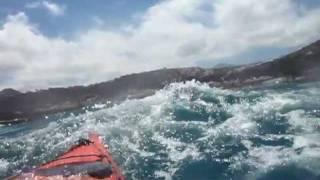 Sunny and warm kayak fishing