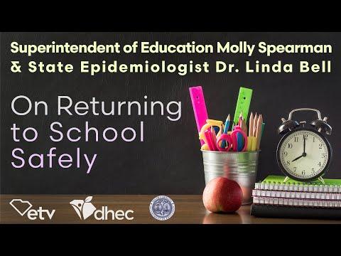 screenshot of youtube video titled COVID-19 Safe Return to School