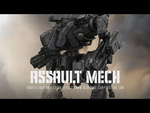 Robot Sound Effects - Assault Mech - Robotic War Unit Sound Effects Demo