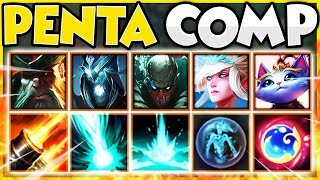 *INFINITE PENTAS* PENTAKILL TEAMCOMP 2019 (MOST BROKEN TEAM) ** HILARIOUS