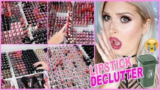 1000+ Lipsticks! 🔪😱 ORGANIZE AND DECLUTTER MY MAKEUP COLLECTION! 😏