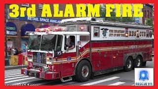 [Manhattan] 3rd ALARM - Major FDNY response - Lots of lights & siren action