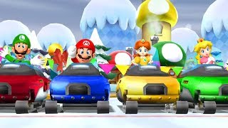Mario Party 9 - All Racing Minigames (2 Players)