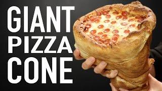 GIANT PIZZA CONE VS GIANT PIZZA CONE