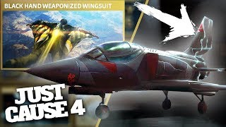 JUST CAUSE 4 INVISIBLE STEALTH JET & BAVARIUM WINGSUIT! This thing is INSANE!