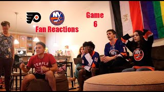 FLYERS ISLANDERS FAN REACTIONS- DOUBLE OVERTIME!?!?!? (Flyers vs. Islanders - Game 6) 2020