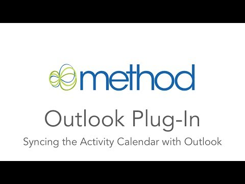 [Method CRM] Outlook Plug-in: How to Sync the Calendar
