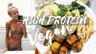 WHAT I EAT - 163g of protein VEGAN + calories and macronutrients + IM STRESSED