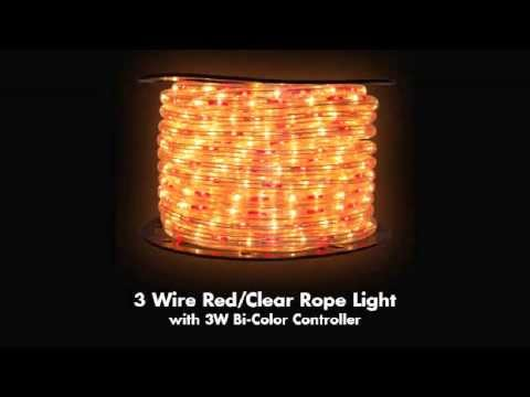 "150' 3-Wire 120-Volt 1/2"" Red/Clear Rope Light Spool"