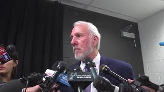Gregg Popovich Postgame Interview / Spurs vs Cavaliers / Jan 23