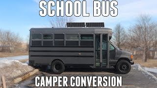 College Dropout Converts an OLD SCHOOL BUS into the ULTIMATE ADVENTURE VEHICLE
