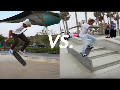 Tyler The Creator Vs. Rich The Kid Skateboarding!