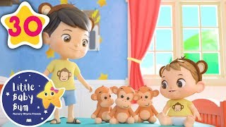 5 Little Monkeys | +More Baby Songs | Nursery Rhymes | Little Baby Bum