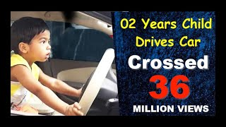 child drive car || small child drive car || car drive by small child