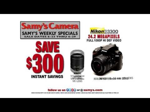 Save $300 on Nikon D3300 Digital Camera w/ 2 Lenses. This week at Samy's Camera!