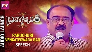 Brahmotsavam Movie has a Great Story says Paruchuri Venkat..