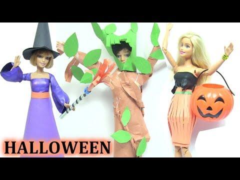 Halloween!  Hướng Dẫn Làm Trang Phục Halloween Cho Búp Bê : Ma Cây, Phù Thuỷ, Váy Bí Ngô {chị bí đỏ}