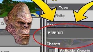 """Minecraft """"BIGFOOT"""" World (Finding Sasquatch in this Minecraft Seed)"""