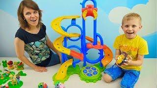 МАШИНКИ СБОРНИК для детей - Развивающие видео про Машинки для малышей. Носики Курносики