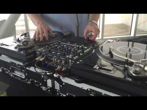 DJ Tecumseh scratching at the Sculpture Park
