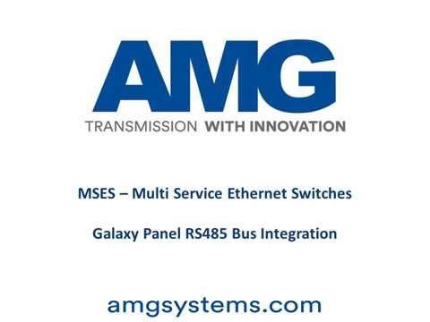 AMG MSES Galaxy Panel RS485 Bus Integration