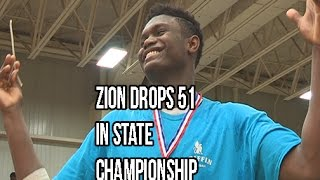 Zion Williamson Scores 51 In State Championship! Chandler Lindsey Catches A Body